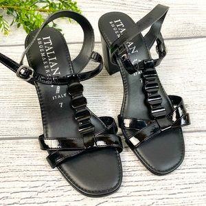 NEW Italian Shoemakers Black Block Heels 7